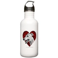Greyhound Valentine Sports Water Bottle