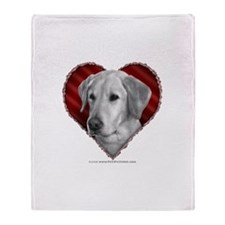 Yellow Lab Valentine Throw Blanket