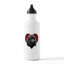 Poodle Valentine Water Bottle