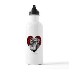 Schnauzer Valentine Water Bottle