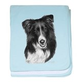 Border Collie Malcolm baby blanket