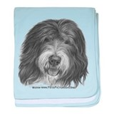 Old English Sheepdog baby blanket