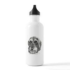 Cute Wire hair dachshund Water Bottle