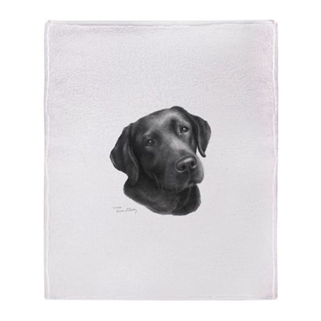 Chocolate Lab Throw Blanket
