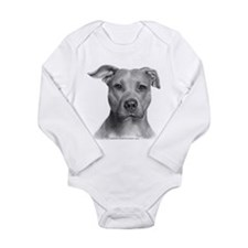 American Pit Bull Terrier Long Sleeve Infant Bodys