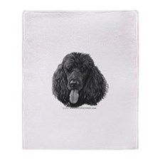 Shadow, Standard Poodle Throw Blanket