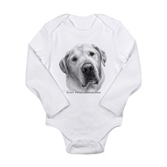 Max, Lab-Bull Terrier Mix Long Sleeve Infant Bodys
