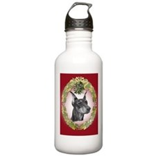 Doberman Pinscher Christmas Water Bottle