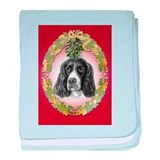 English Springer Spaniel Mist baby blanket