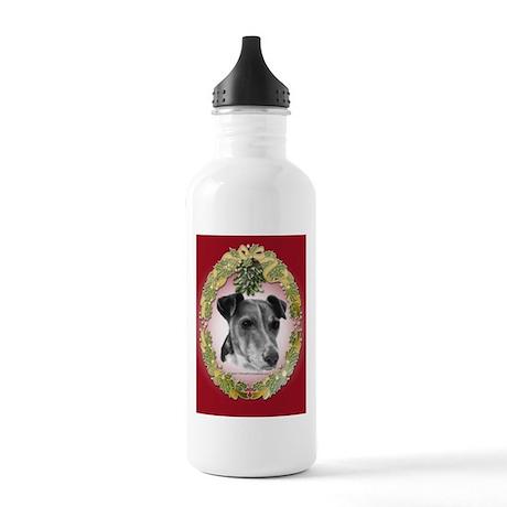 Fox Terrier Christmas Stainless Water Bottle 1.0L