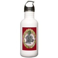 Weimeraner Christmas Water Bottle