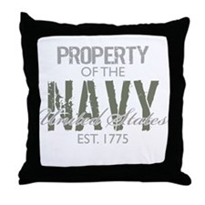 Property of the US Navy (Gree Throw Pillow