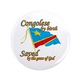 "congolese by birth 3.5"" Button (100 pack)"
