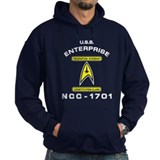 Star Trek NCC-1701 white Hoodie
