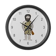 'Hairy Caveman' Large Wall Clock