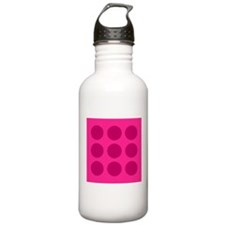 'Pink Polka Dot' Water Bottle