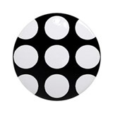 'White Polka Dot' Ornament (Round)