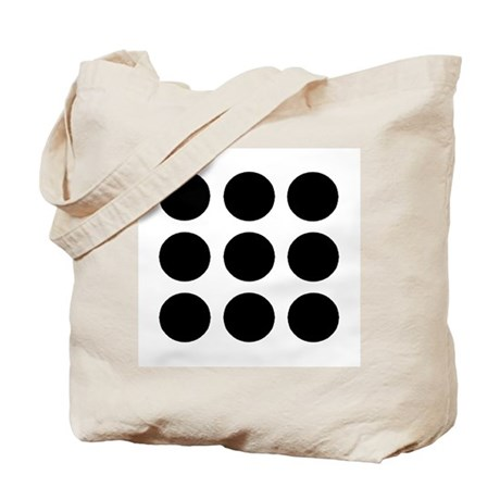 'Black Polka Dot' Tote Bag