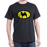 Norwegian Buhund Black T-Shirt