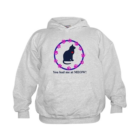 You Had Me at Meow Kids Hoodie