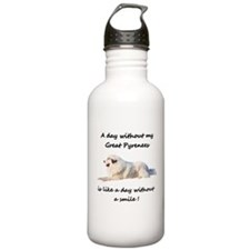 Without my Great Pyrenees Water Bottle