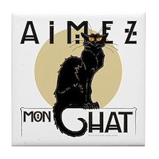 Love My Cat Tile Coaster