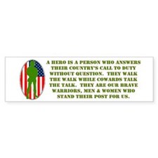"""Military Heros"" Bumper Bumper Sticker"