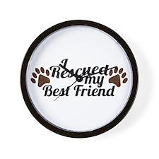 Rescued Dog Best Friend Wall Clock