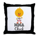 MMA Chick Throw Pillow