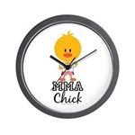 MMA Chick Wall Clock