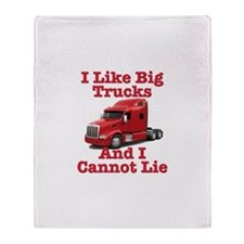 I Like Big Trucks Peterbilt Throw Blanket