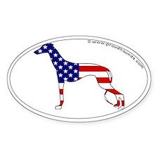 USA Flag Greyhound Decal