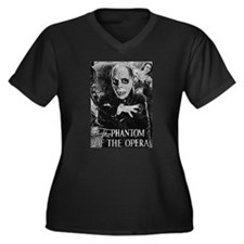 Phantom of the Opera Women's Plus Size V-Neck Dark
