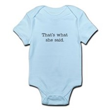 That's what she said Onesie
