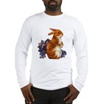 Sitting Rabbit with Flowers (Front) Long Sleeve T-