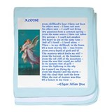 Poe Poem Alone baby blanket