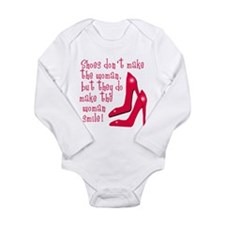 Sexy Shoe Humor Long Sleeve Infant Bodysuit