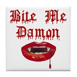 Bite Me Damon Tile Coaster