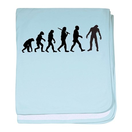 Funny Zombie Evolution baby blanket