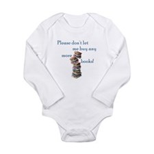 Too Many Books! Long Sleeve Infant Bodysuit