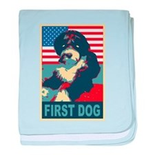 First Dog BO Obama baby blanket