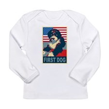 First Dog BO Obama Long Sleeve Infant T-Shirt