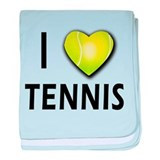 I Love Tennis baby blanket