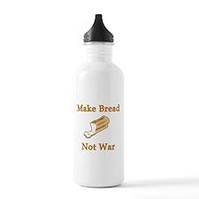 Make Bread Not War Water Bottle
