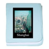 Birdseye View of Shanghai China baby blanket