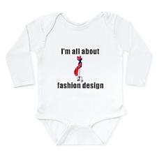Cute Fashionista Long Sleeve Infant Bodysuit