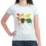 Autumn Leaves Jr. Ringer T-Shirt