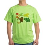 Autumn Leaves Green T-Shirt