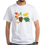 Autumn Leaves White T-Shirt