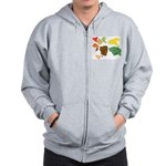 Autumn Leaves Zip Hoodie